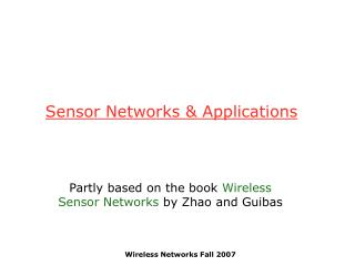 Sensor Networks & Applications
