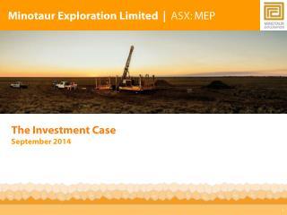 Minotaur Exploration Limited | ASX : MEP