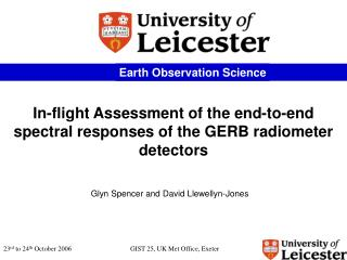 In-flight Assessment of the end-to-end spectral responses of the GERB radiometer detectors