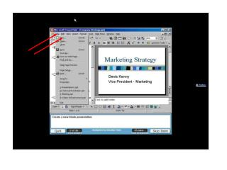 Create a new slide containing just place holders for a title and single bulleted list