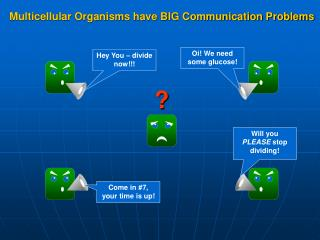 Multicellular Organisms have BIG Communication Problems