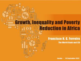 Growth, Inequality and Poverty Reduction in Africa
