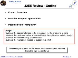 J2EE Review - Outline