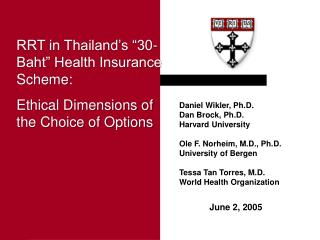 Ethical Issues in Health Research in Developing Countries