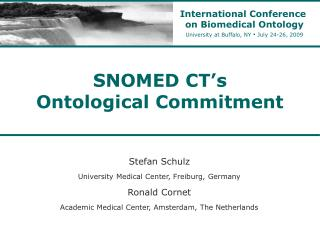 SNOMED CT's  Ontological Commitment