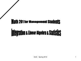 Math 201 for Management Students