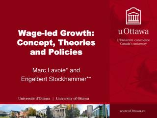 Wage-led Growth: Concept, Theories and Policies