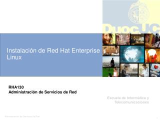 Instalación de Red Hat Enterprise Linux