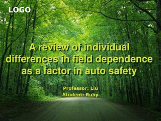 A review of individual differences in field dependence as a factor in auto safety