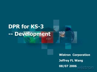 DPR for  KS-3 -- Development