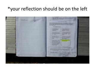 *your reflection should be on the left