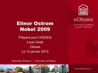 Elinor Ostrom Nobel 2009