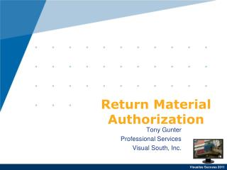 Return Material Authorization