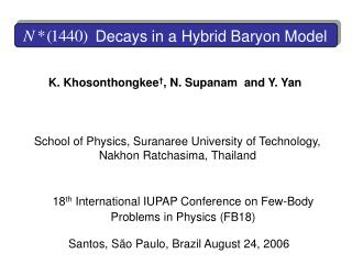 Decays in a Hybrid Baryon Model