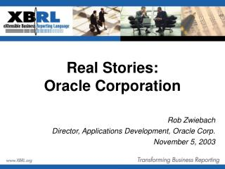 Real Stories:  Oracle Corporation