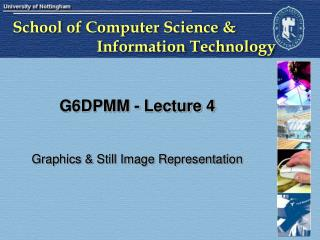 G6DPMM - Lecture 4
