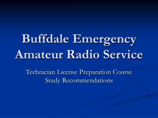 Buffdale Emergency Amateur Radio Service