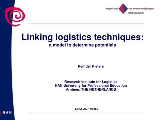 Linking logistics techniques: a model to determine potentials