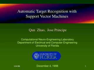 Automatic Target Recognition with  Support Vector Machines
