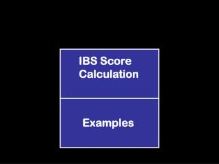 IBS Score Calculation