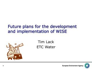 Future plans for the development and implementation of WISE