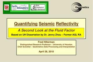 Quantifying Seismic Reflectivity