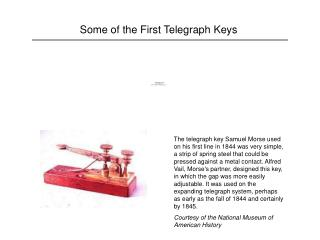 Some of the First Telegraph Keys