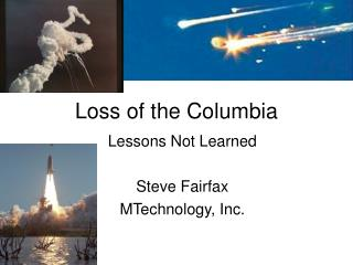 Loss of the Columbia