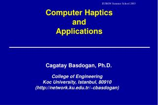 Computer Haptics  and  Applications