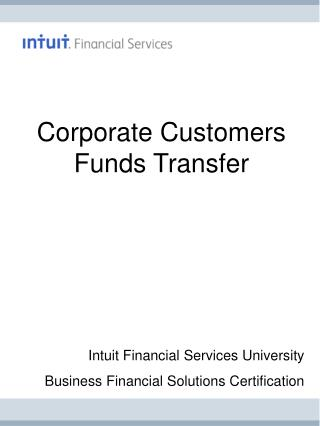 Corporate Customers Funds Transfer