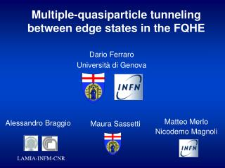 Multiple-quasiparticle tunneling between edge states in the FQHE