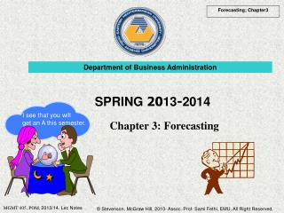 Chapter 3:  Forecasting
