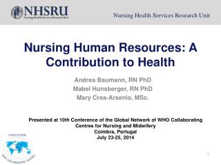 Nursing Human Resources: A Contribution to Health