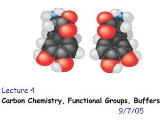 Lecture 4 Carbon Chemistry, Functional Groups, Buffers 9/7/05