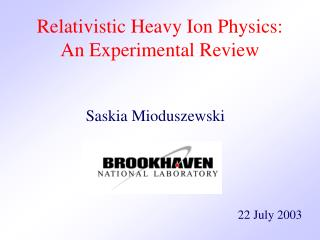 Relativistic Heavy Ion Physics: An Experimental Review