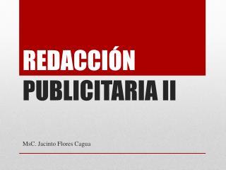 REDACCIÓN  PUBLICITARIA II