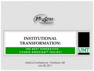 Institutional transformation: