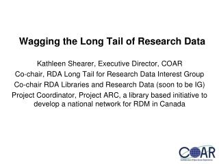 Wagging the Long Tail of Research Data