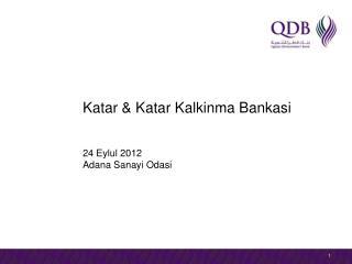 Katar & Katar Kalkinma Bankasi