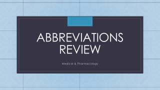 Abbreviations Review