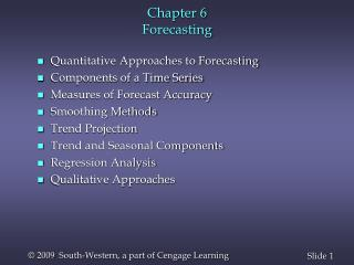 Chapter 6 Forecasting