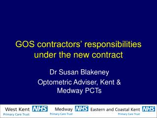 GOS contractors' responsibilities under the new contract