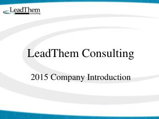 LeadThem Consulting 2015  Company Introduction