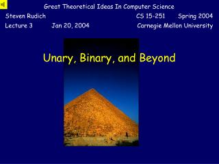 Unary, Binary, and Beyond