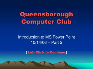 Queensborough Computer Club