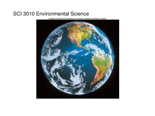 SCI 3010 Environmental Science
