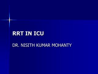 RRT IN ICU