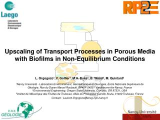Upscaling of Transport Processes in Porous Media with Biofilms in Non-Equilibrium Conditions