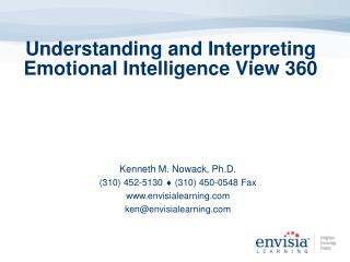 Understanding and Interpreting Emotional Intelligence View 360