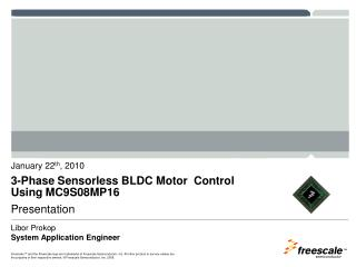 3-Phase Sensorless BLDC Motor  Control Using MC9S08MP16